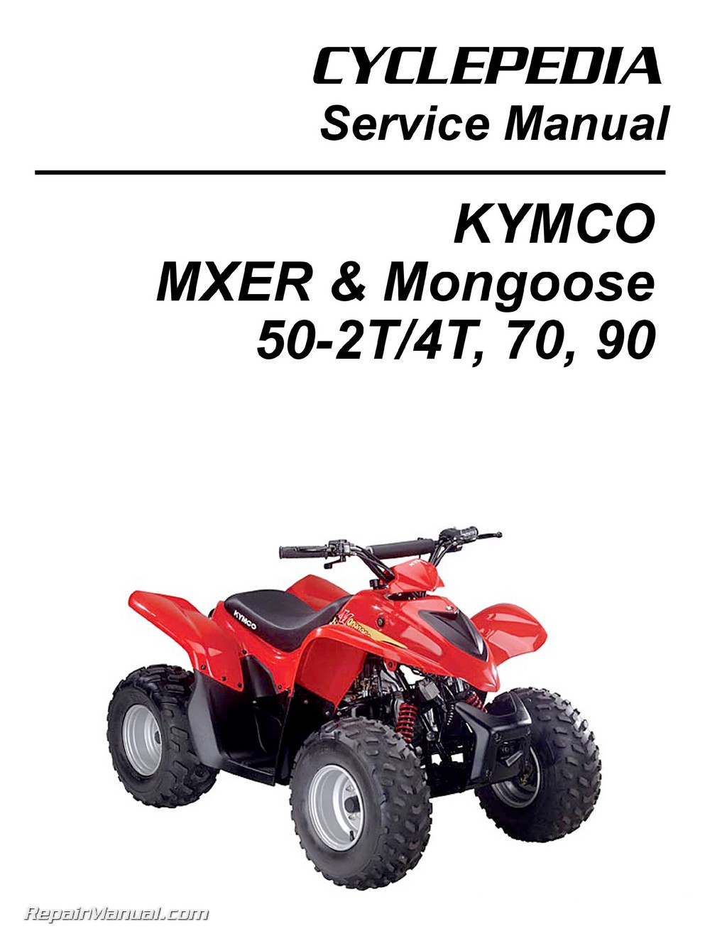 kymco mxer mongoose 50 2t 50 4t 70 90cc atv printed. Black Bedroom Furniture Sets. Home Design Ideas