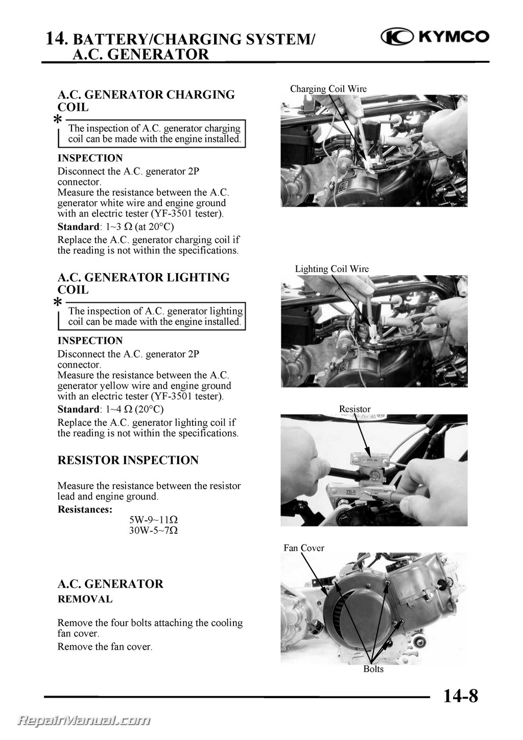Kymco Mxer Mongoose 50 2t 4t 70 90cc Atv Printed Service Manual 2008 Wiring Diagram