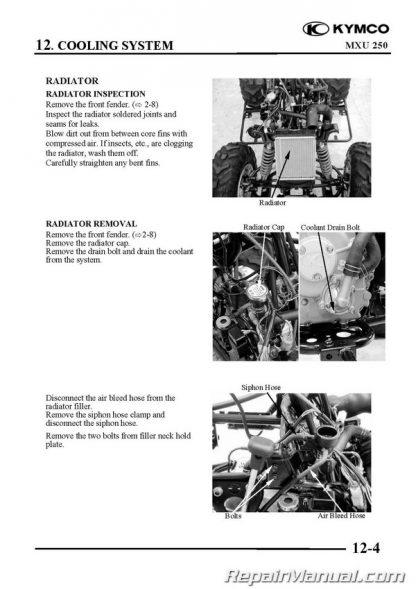 kymco mxu 250 atv printed service manual Kymco Mongoose ATV Parts