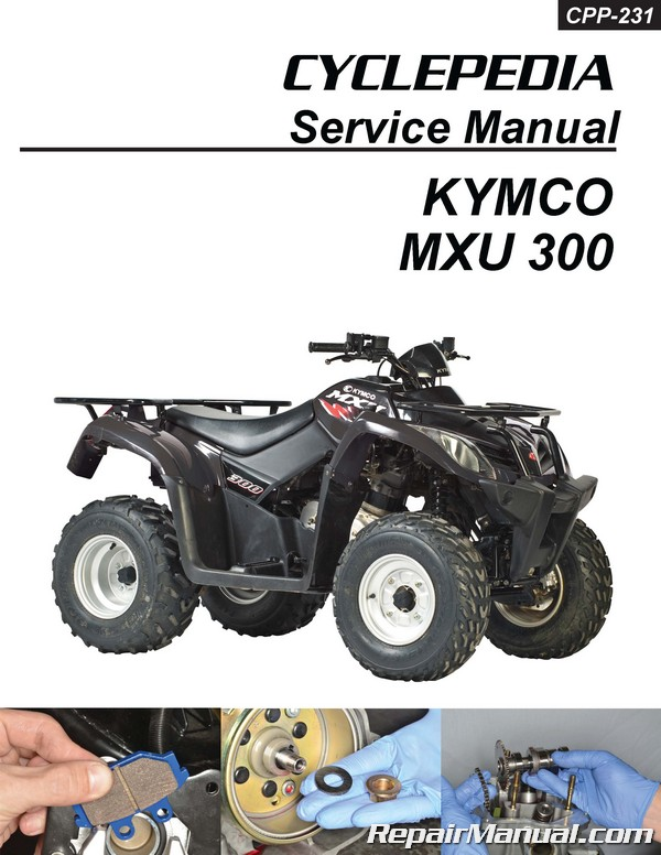 kymco mxu 300 atv printed service manual by cyclepedia. Black Bedroom Furniture Sets. Home Design Ideas