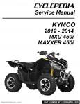 KYMCO MXU 450i and MAXXER 450i ATV Paper Service Manual By CYCLEPEDIA