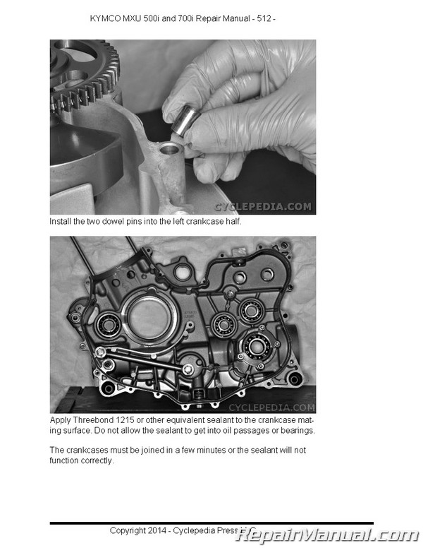 KYMCO MXU 500i 700i ATV Paper Service Manual