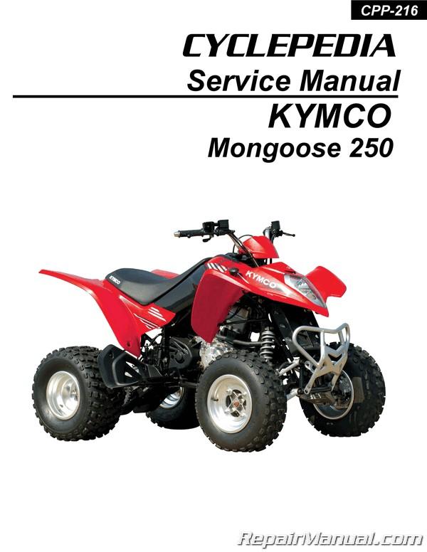 kymco mongoose 250 atv service manual printed by cyclepedia Kymco Mongoose ATV Parts