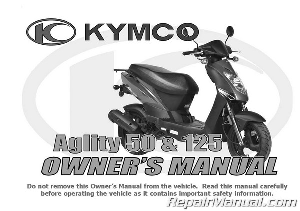Kymco Agility 50 125 Owners Manual