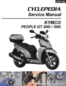 KYMCO PEOPLE GT 200i 300i Scooter Printed Service Manual by CYCLEPEDIA_Page_01