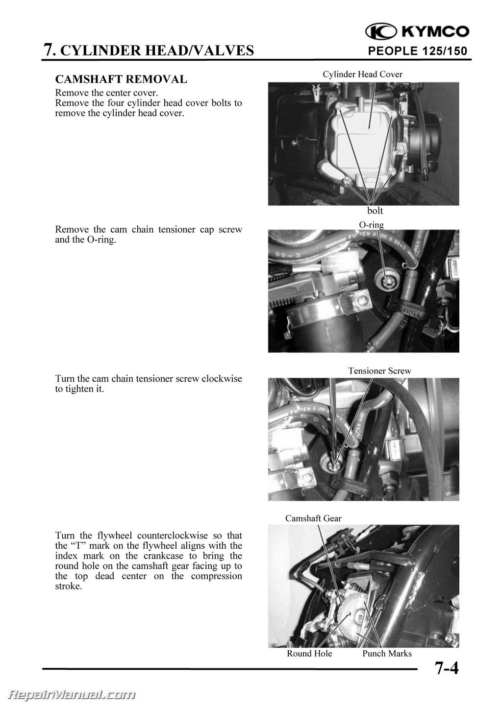 Kymco People 125 150 Cyclepedia Printed Scooter Service Manual border=