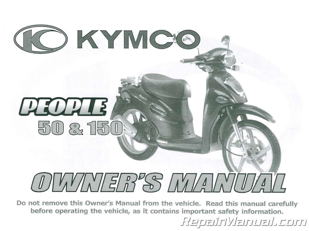 kymco people 50 150 printed scooter owners manual rh repairmanual com luggie scooter owners manual merit scooter owners manual