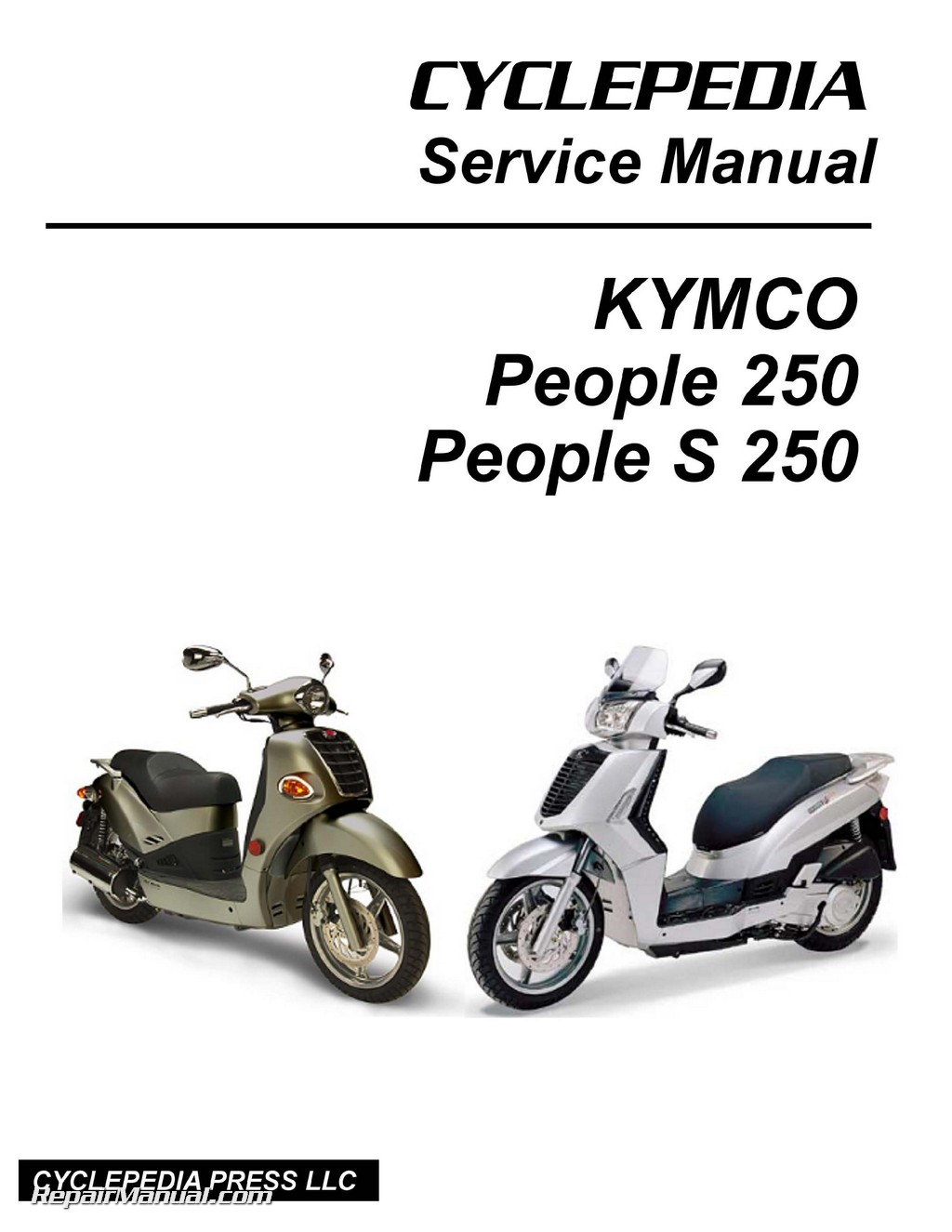 kymco people 250 and s 250 scooter service manual printed by cyclepedia