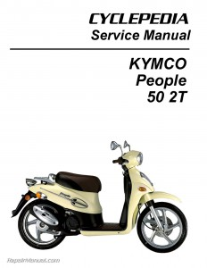 KYMCO People 50 Scooter Printed Service Manual_Page_1