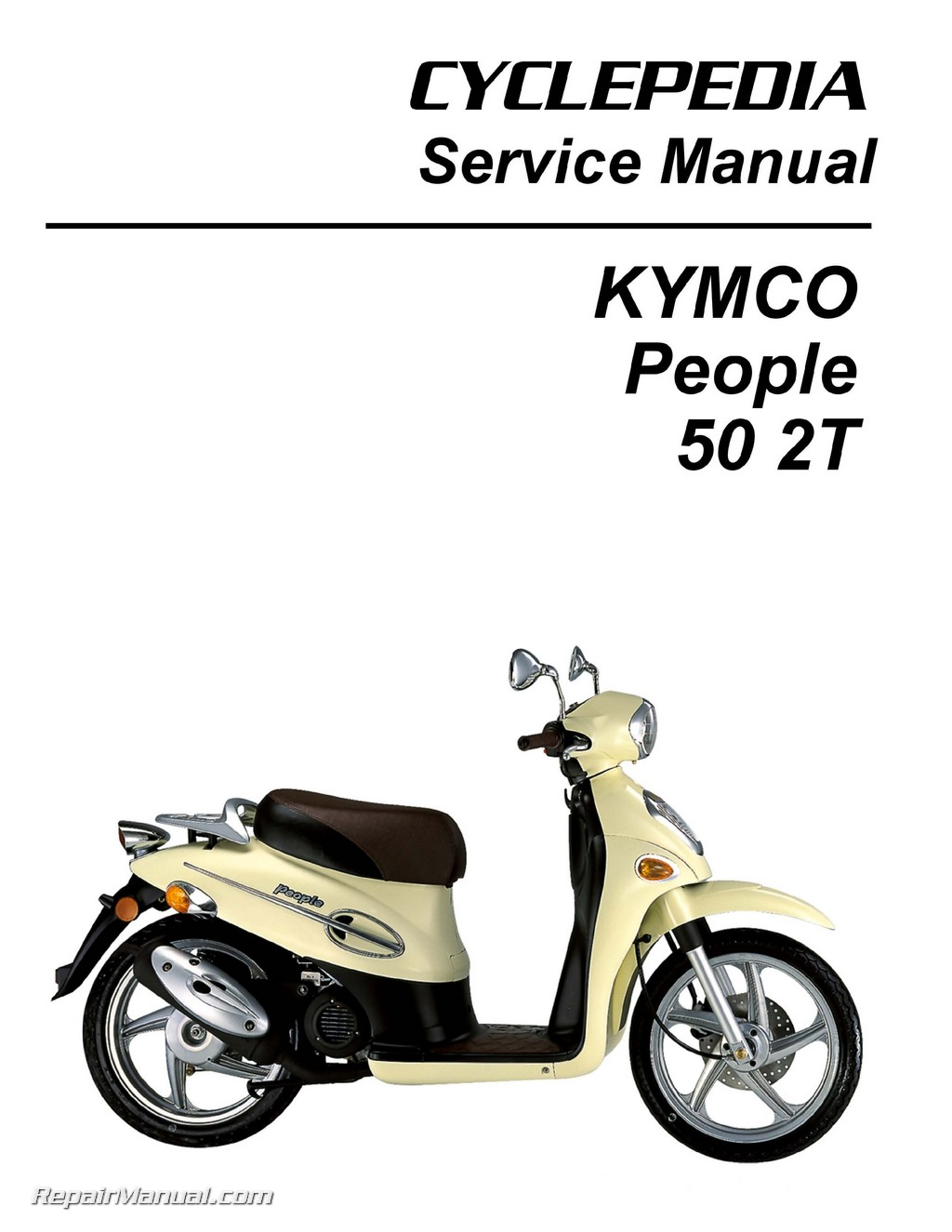Kymco People 50 Scooter Printed Service Manual border=