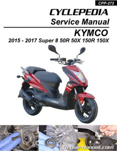 KYMCO Super 8 50 150 R X Cyclepedia Printed Scooter Service Manual