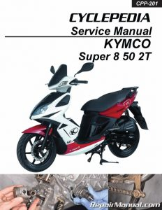 KYMCO Super 8 50 2T Scooter Service Manual Printed_Page_1