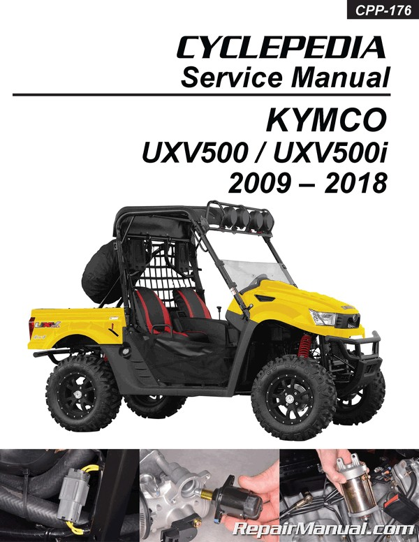 Kymco Uxv500 4x4 Side X Side Printed Service Manual By