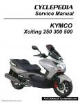 KYMCO Xciting 250 300 500 Ri Service Manual Printed by CYCLEPEDIA_Page_1