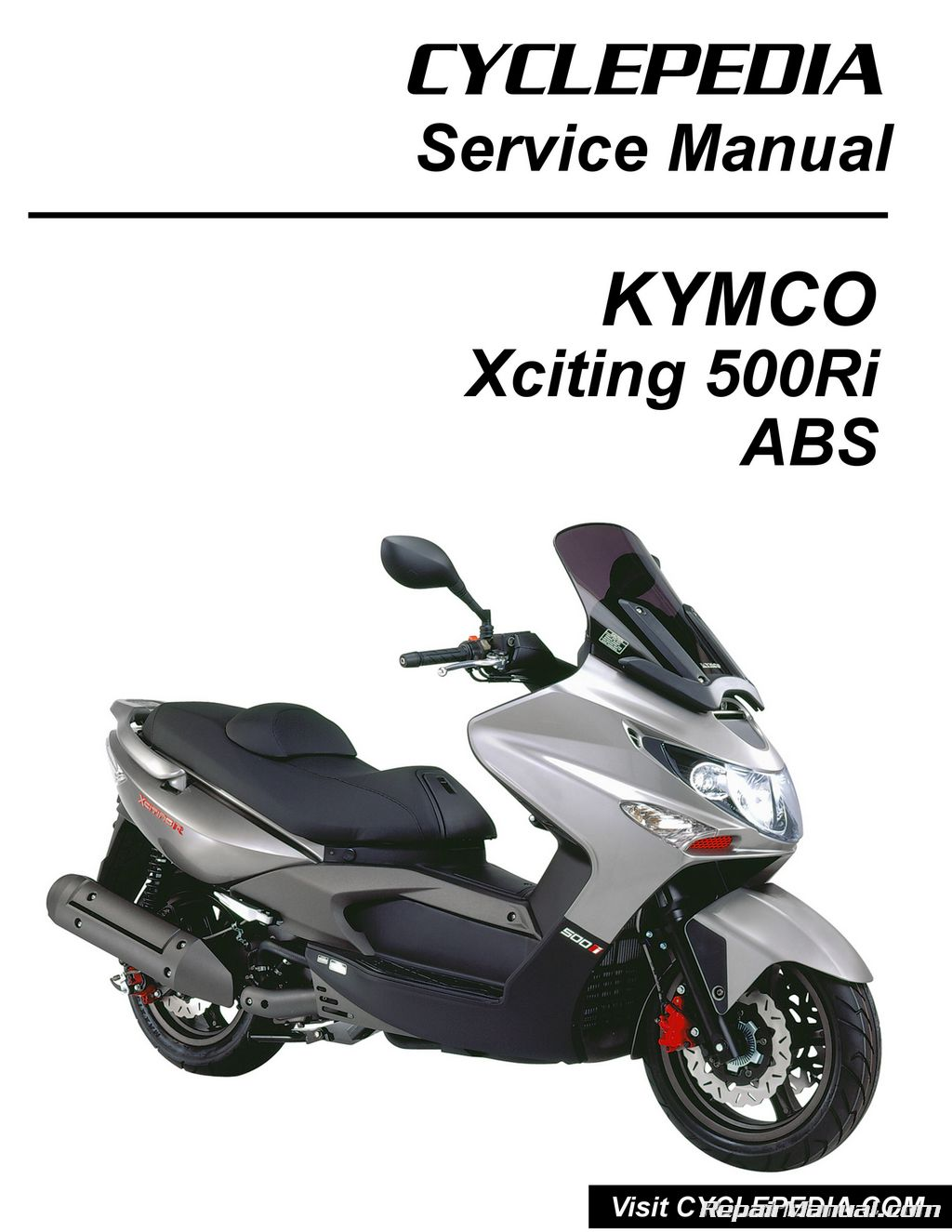 Kymco Wiring Diagram 2009 500 Trusted Agility 125 Xciting 500ri Abs Scooter Service Manual Printed By Cyclepedia Rh Repairmanual Com Light Jonway