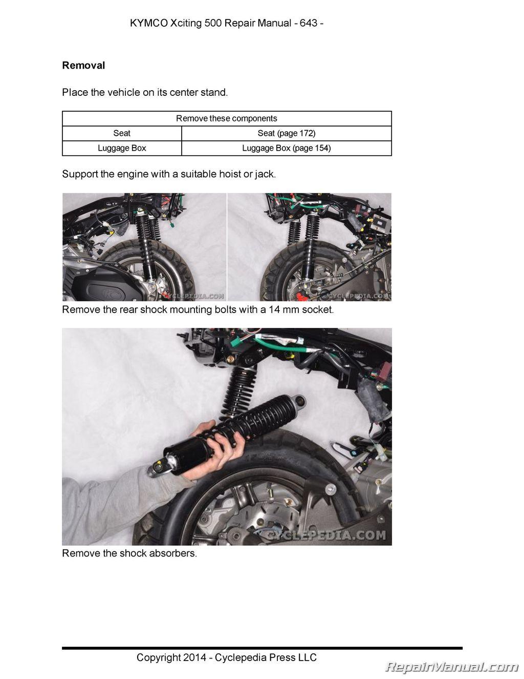 Kymco Xciting 500 Service Repair Manual