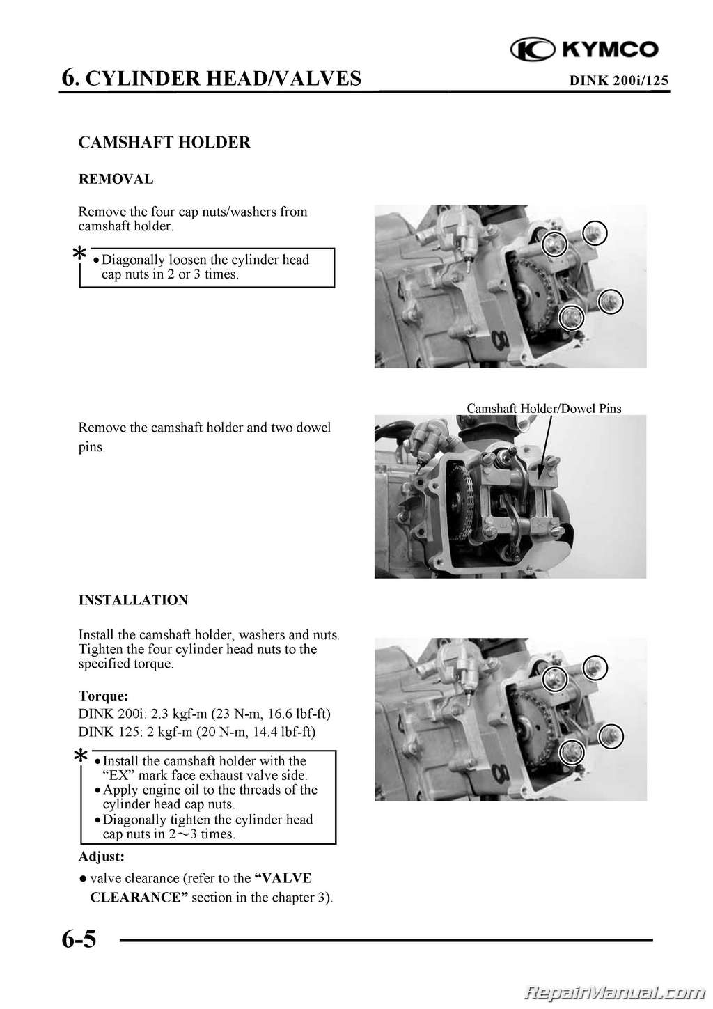 Kymco Yager Dink 125cc 200cc Scooter Printed Repair Manual border=