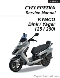 KYMCO Yager Dink 125cc 200cc Scooter Printed Repair Manual_Page_1