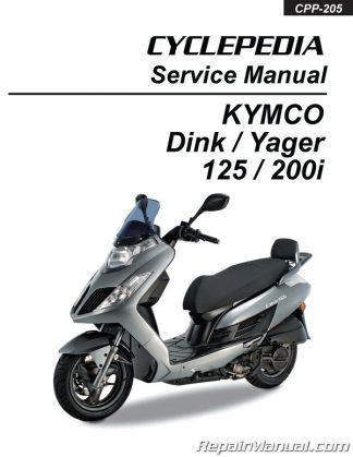 Kymco Yager Dink 125cc 200cc Scooter Printed Repair Manual