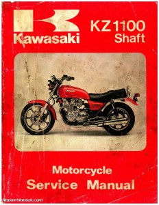 Kawasaki 1981-1983 KZ1100 1984-1985 ZN1100 Shaft Drive Service Manual