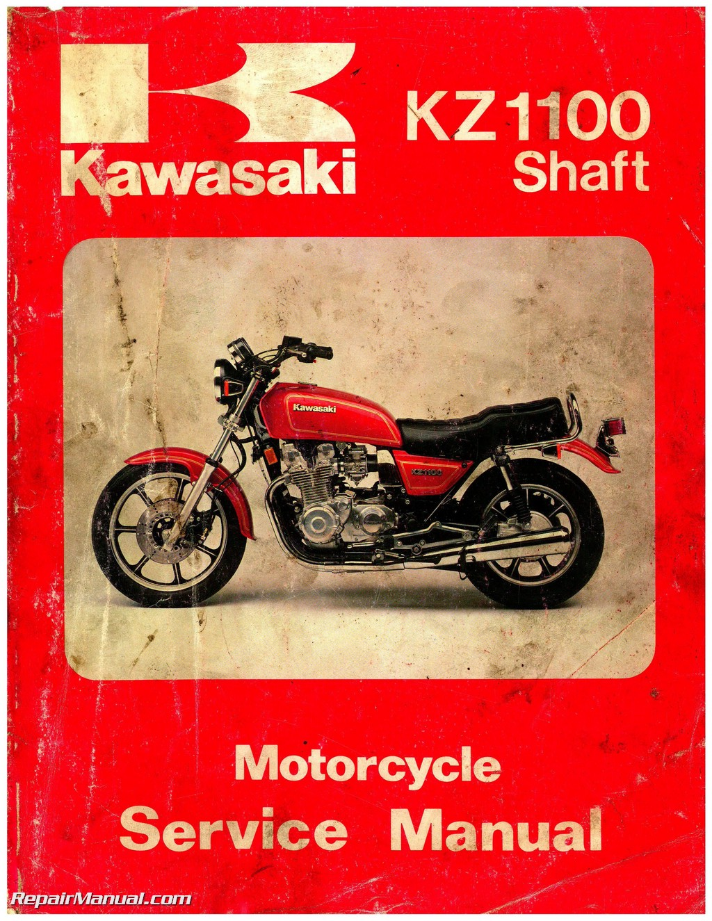 Kawasaki 1981-1983 KZ1100 1984-1985 ZN1100 Shaft Drive Motorcycle Service  Manual