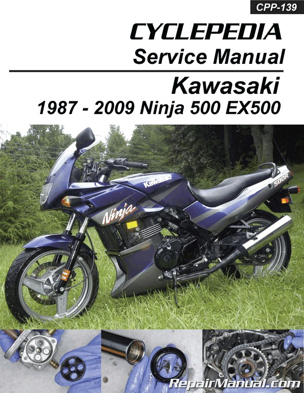 Kawasaki Ex500 Ninja 500 Cyclepedia Printed Motorcycle Service Manual