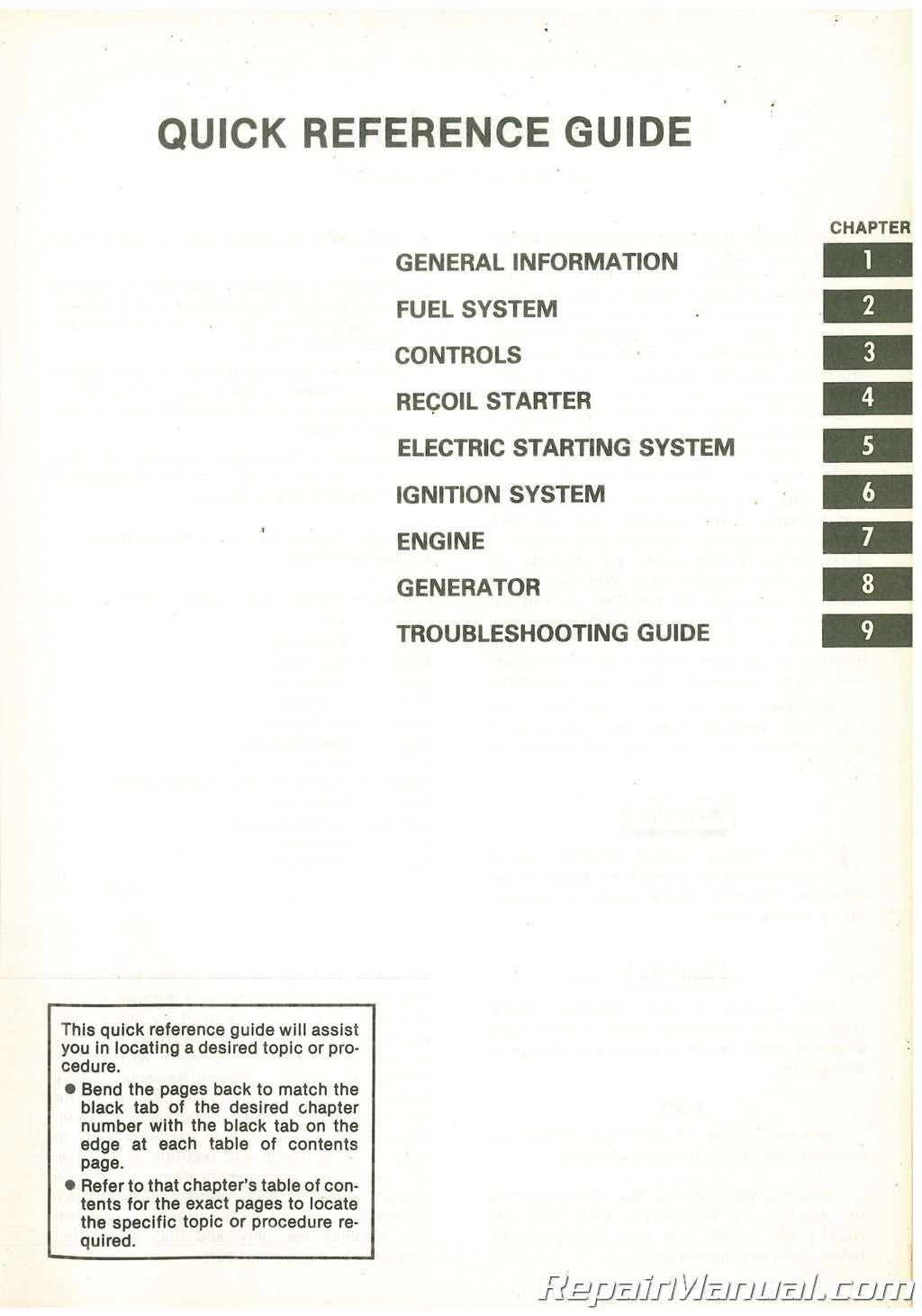 Used Kawasaki Gd700a S Portable Generator Service Manual Honda Ac Internal Wiring Diagram