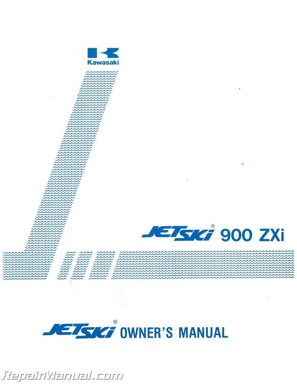 kawasaki jh900a1 jet ski 900zxi 1995 factory owners manual rh repairmanual  com ZXI 1100 Engine 1998 kawasaki zxi 1100 jet ski owners manual