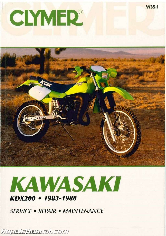 kawasaki kdx200 1983 1988 clymer motorcycle repair manual rh repairmanual com kawasaki kdx 200 service manual pdf 1996 kdx 200 service manual