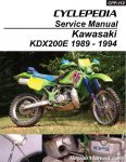 Kawasaki KDX200E Cyclepedia Printed Motorcycle Service Manual_Page_1
