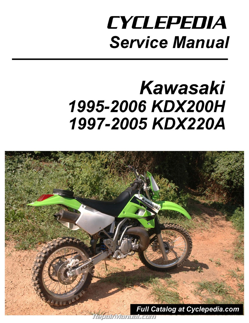 1999 Kawasaki Kdx 175 Wiring Schematics Diagrams Diagram Barako Kdx200h Kdx220a Cyclepedia Printed Motorcycle Service Manual Rh Repairmanual Com 1983 67