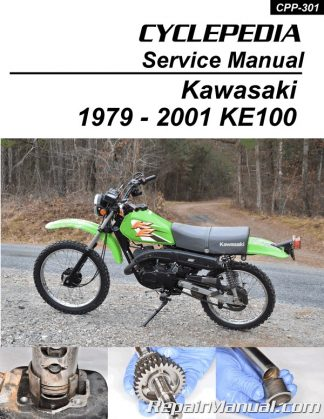 Cyclepedia Kawasaki KE100 Dual Sport Motorcycle Service Manual - PrintedRepair Manuals Online