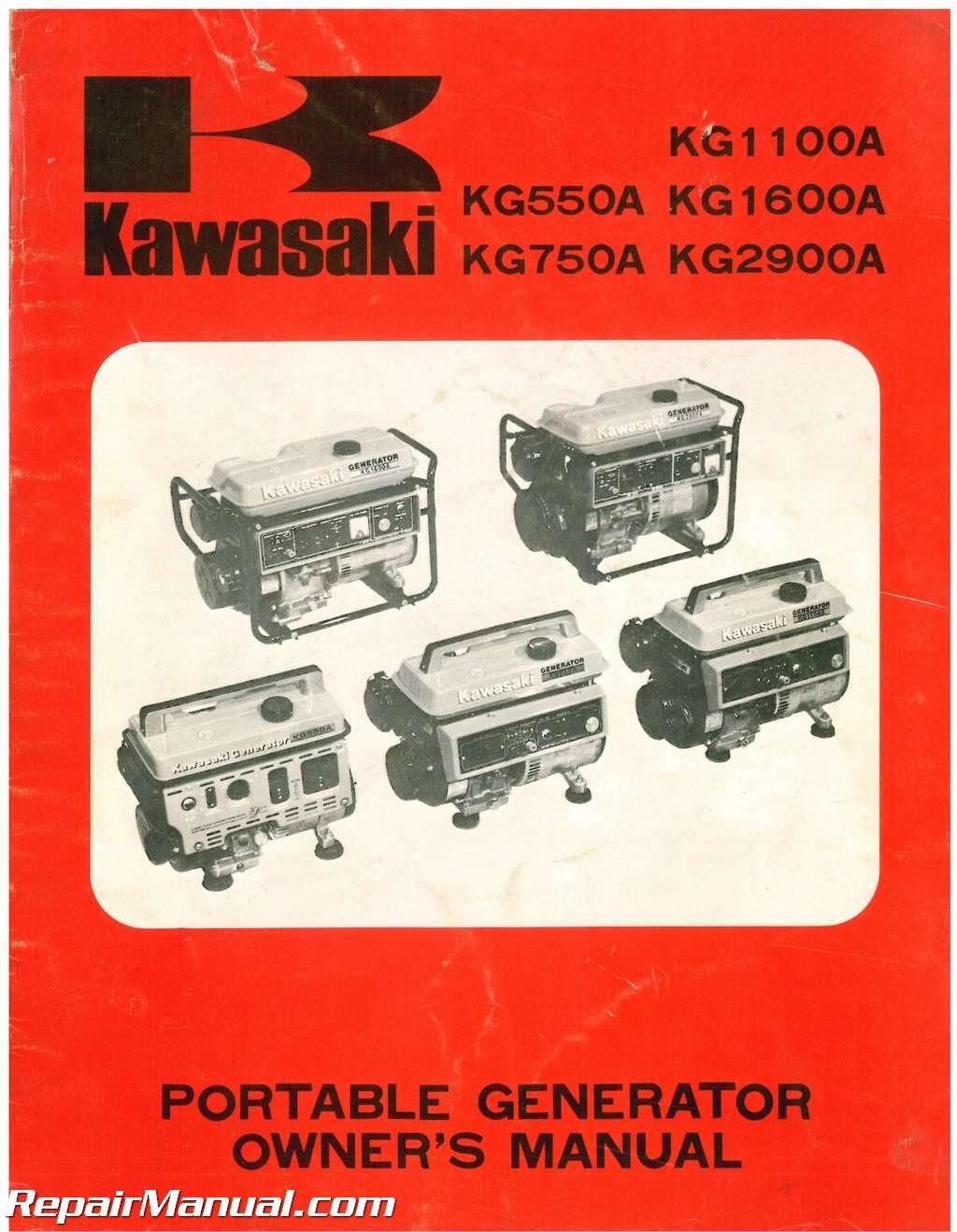 Kawasaki Kg A Kg A Kg A Kg A Kg A Portable Generator Owners Manual