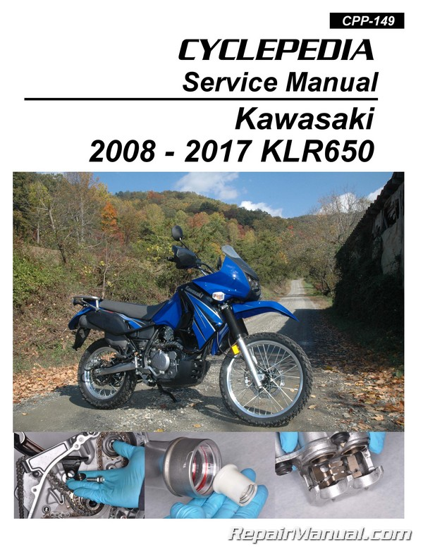 2008 2017 kawasaki klr650 motorcycle cyclepedia printed service manual rh repairmanual com 2013 KLR 650 Accessories 2012 KLR 650 Rumors