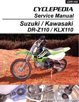Kawasaki KLX110 Suzuki DR-Z110 Cyclepedia Printed Motorcycle Service Manual
