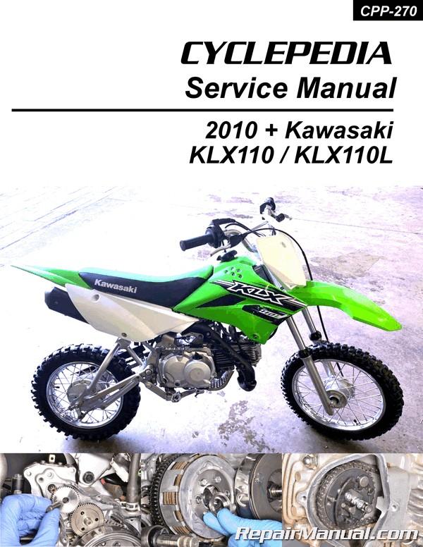 Kawasaki KLX110/L Cyclepedia Printed Motorcycle Service Manual on