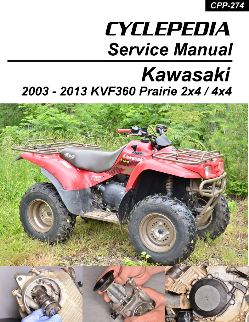 Kawasaki KVF360 Prairie Printed Cyclepedia ATV Service Manual on
