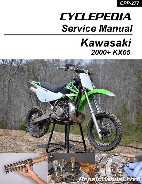 Kawasaki kx65 motorcycle service repair manual 2000-20.