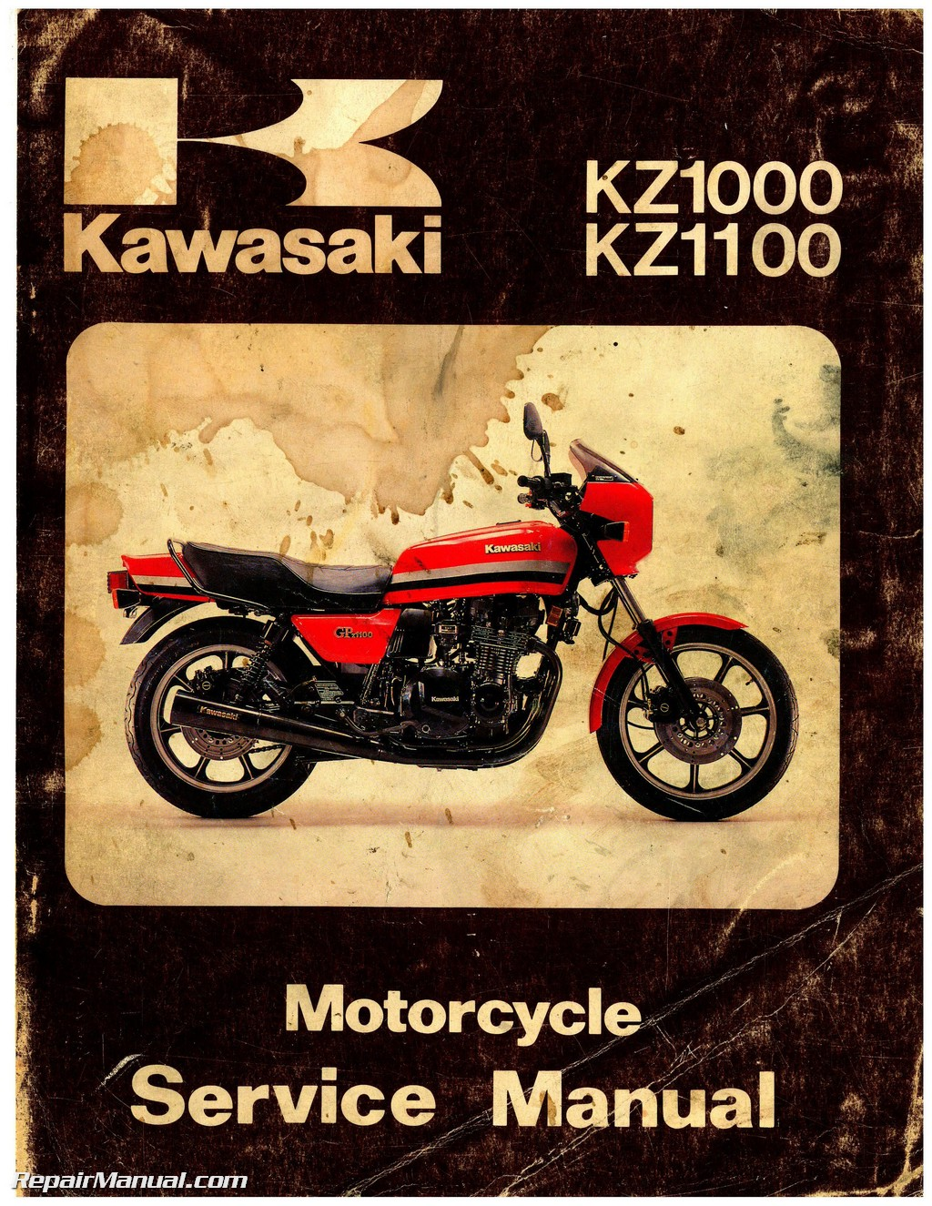 1981-1982 Kawasaki KZ1000 KZ1100 Motorcycle Repair Service Manual on 1980 k z diagram, 1978 kz1000 lighting diagram, kz1000 parts diagram,
