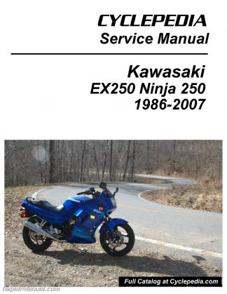 kawasaki zzr250 ex250 1990 1996 service repair manual