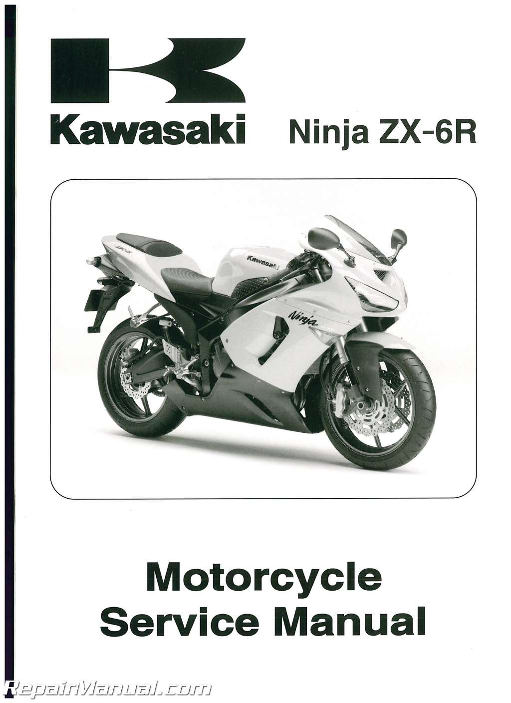 kawasaki zx6r motorcycle service manual 2005 2006 rh repairmanual com zx6r  manual 2009 zx6r manual 2000