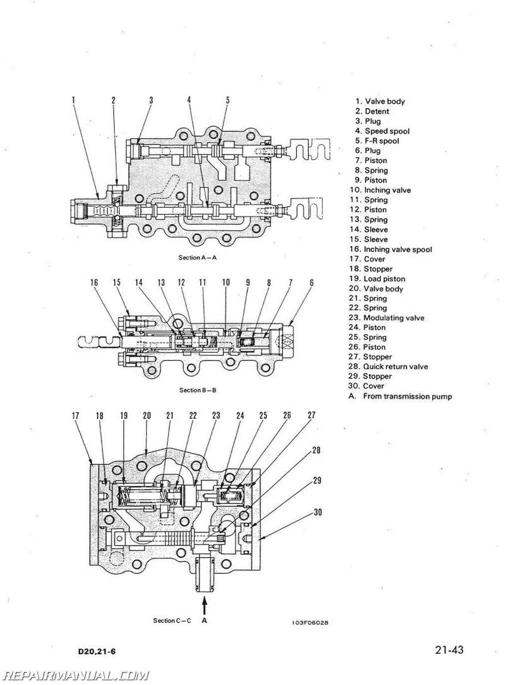 komatsu d20 d21 d31 d37 chassis only service manual repair komatsu d20 d21 d31 d37 chassis only service manual page 3