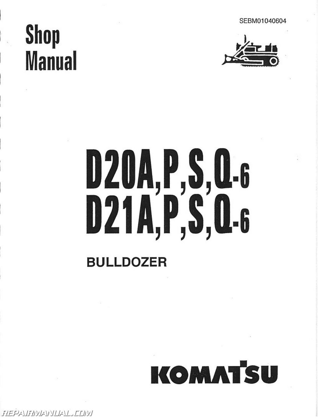 Komatsu D20 Wiring Diagram Will Be A Thing Excavators D21 D31 D37 Chassis Only Service Manual Rh Repairmanual Com Caterpillar Diagrams