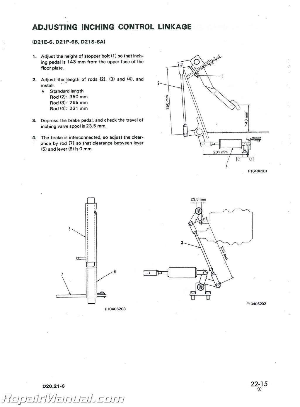 komatsu d20 d21 d31 d37 chassis only service manual repair komatsu d20 d21 d31 d37 chassis only service manual 003
