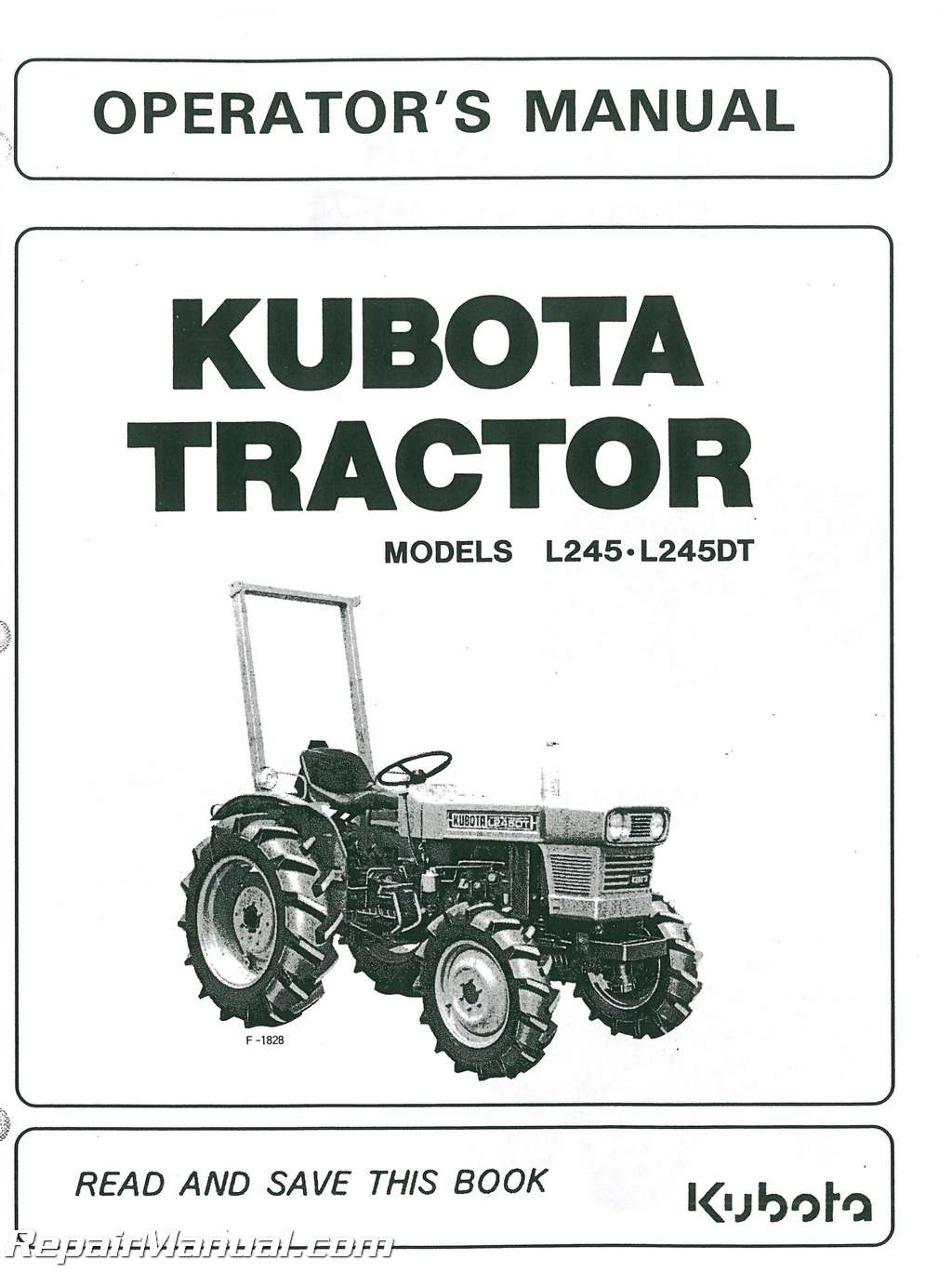 Kubota B6000 Wiring Diagram Explore Schematic B7510 L245 L245dt Operators Manual B3000
