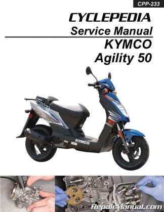 kymco agility 50 scooter printed service manualcyclepedia