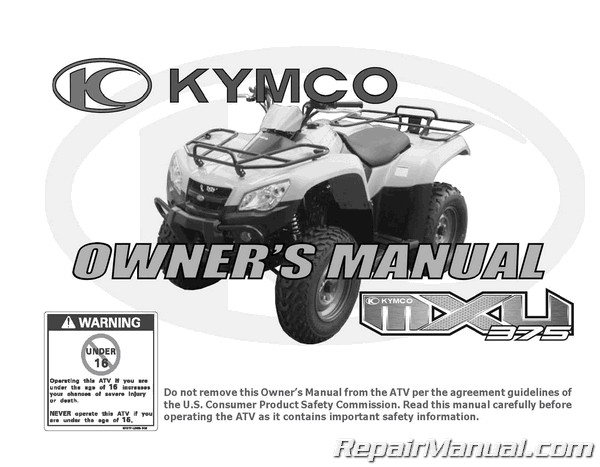 kymco mxu 375 le atv owners manual rh repairmanual com suzuki atv owners manual pdf honda atv owners manual download