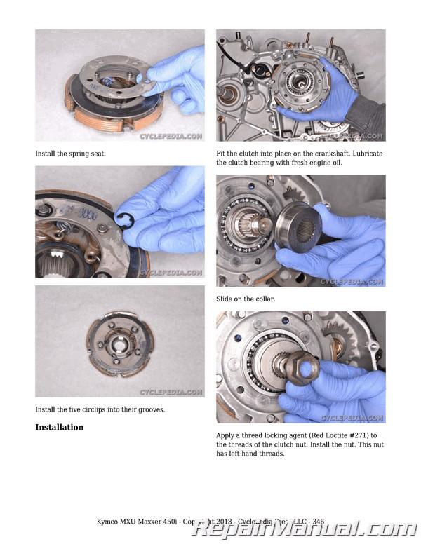 Kymco Mxu 450i Maxxer 450i Atv Printed Service Manual By