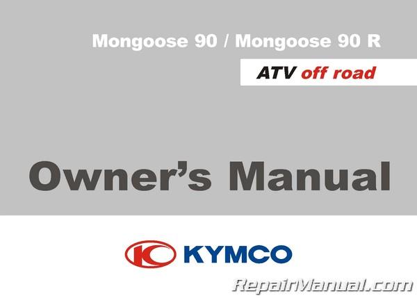 Kymco mongoose 250 300 maxxer atv printed service manual.