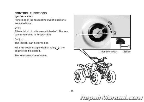 [FPER_4992]  Kymco Mongoose 90 90R (Y10) ATV Owners Manual | Kymco And Spark Plug Wiring Harness |  | Repair Manuals Online